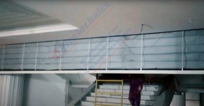 Установленные дымозащитные шторы E60, тип Гармошка